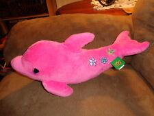 Dolphin Hot Pink 2011 K&M Wild Republic Stuffed Plush Porpoise Flowers