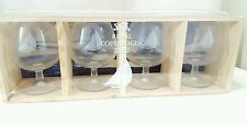 1994 ROYAL COPENHAGEN Glass Set Of 4 Nautical Brandy Snifters Sailboat NIB