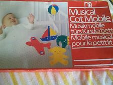 Vintage mothercare cot mobile new in box