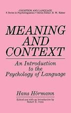 Meaning and Context: An Introduction to the Psychology of Language (Co-ExLibrary