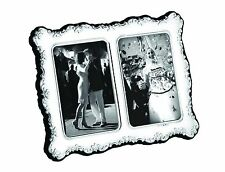 Solid Silver Double Photo / Photograph Frame (3.5 X 2.5 each photo)