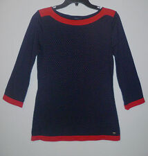 TOMMY HILFIGER Size S Lovely Casual Women T-Shirt 3/4 Sleeve Sport Blouse Top