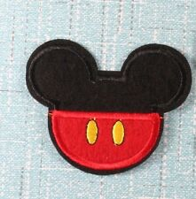 Mickey Mouse Icon Head Shorts Iron On Patch Embroidered Applique Sewing DIY