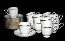 24-Pc Lenox HANNAH Gold Debut Collection Bone Footed Cups & Saucers DISC NEW