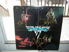 VAN HALEN SIGNED LP DEBUT SELF TITLED 1978 DAVID LEE ROTH