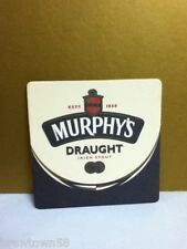 Murphy's Murphys draught Irish Stout est. 1856 square beer coaster coasters 1 T5
