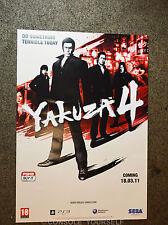 YAKUZA 4 - DOUBLE SIDED A2 GAMING - PROMO POSTER (NOT A GAME)