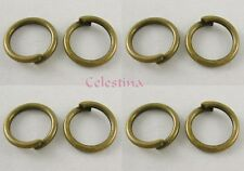 400 4mm Antique Bronze Jump Rings - 0.7mm - Iron Closed Unsoldered - NF - JR5