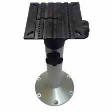 "Aluminium Height Adjustable Boat Seat Pedestal (19-26"" / 480-630mm)"