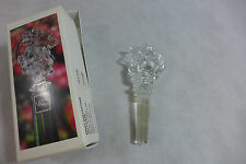 Mikasa Austrian Lead Crystal Wine Bottle Stopper Fruit Collection Grapes New