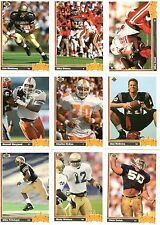 1991 Upper Deck Football Complete Set w/Montana and Hologram Subsets, 518 Cards