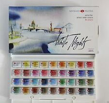WHITE NIGHTS Watercolor 36 colours Artists Paint Set  RUSSIAN Nevskaya palitra