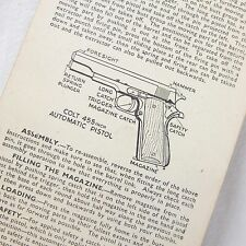 WW2 WEBLEY LUGER COLT MAUSER PISTOL MANUAL WALTHER AUTOMATIC ANTI TANK GRENADES