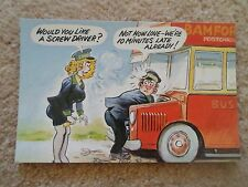 G142  BAMFORTH PC Saucy Lady Bus Conductor Humour Would You Like A Screw Driver?