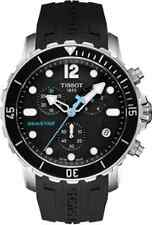 T0664171705700 Tissot Seastar Mens Watch Quartz Black Dial Black Rubber Strap