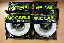 New 4 High Quality 100FT BNC Extension CCTV Cable for Samsung,Kguard,Swan,Lorex