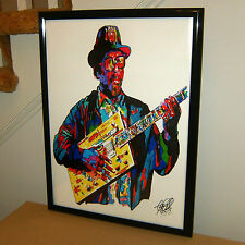Bo Diddley, R&B Vocalist, Guitar Player, Guitarist, Chicago Blues, POSTER w/COA