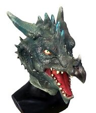 Green Dragon Mask Role play Cosplay Latex Fancy Dress Costume Halloween Fantasy