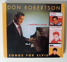 "Neu OVP CD Elvis: DON ROBERTSON ""And Then I Wrote Songs For Elvis"" BEAR Family"