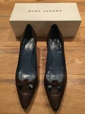 Marc Jacobs Brown Heels Shoes Cutout Toe EU 40 UK 6 7 US 9 10