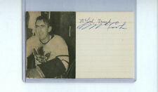 FRANK MCCOOL SIGNED 3x5 INDEX CARD D.1973 AUTOGRAPH TORONTO MAPLE LEAFS 1944-46