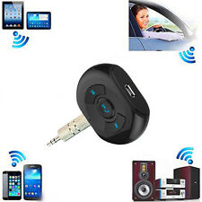 A2DP Bluetooth Audio Receiver 3.5mm AUX Stereo Music /Calls Home Car Adapter Mic