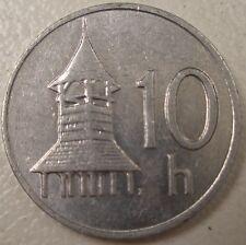 1999 SLOVAKIA 10 h HALIEROV COIN LQQK NICE