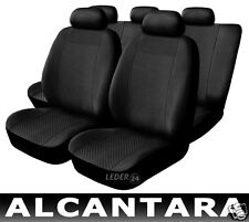 Seat Covers Leather Alcantara Black compatible with ALFA ROMEO 156
