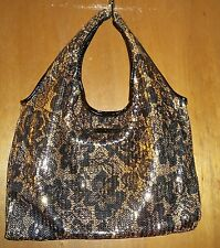 Betsey Johnson Lace Kelly Gold and Black Sequined Flowered Handbag-NWOT!!
