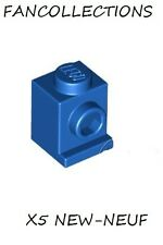 LEGO - 5x Brique Brick Modified 1x1 with Headlight bleu/blue 4070 NEUF