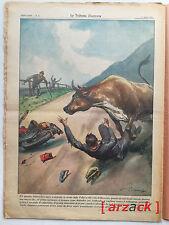 LA TRIBUNA ILLUSTRATA 18 ROVERETO strada della VALLARSA incidente 17/4/1955