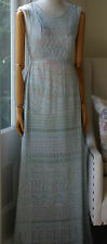 MISSONI BLUE CROCHET MAXI DRESS SMALL UK 8/10 US 4 IT 40