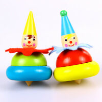 New Popular Wooden Colorful Clown Finger Gyro Baby Cute Educational Toys Gift