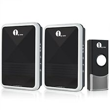 1byone QH-0535 Easy Chime Twin Mains Plug-in Wireless Doorbell Door Chime Kit...