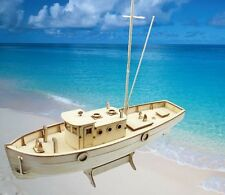Laser-cut Wooden ship Model kit: The NXOS Fishing boat