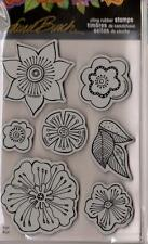 New Stampendous RUBBER STAMP cling JUMBO LAUREL BURCH BLOSSOMS  FREE US SHIP