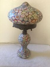 """Vintage Italian  Millefiori Mushroom 17"""" Electric Lamp"""