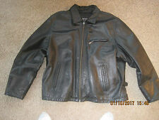 Wilson Men's Black Leather Jacket XL 3M Thinsulate Zip Out Lining Zip front EUC