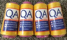 QA 2000m Overlocker Thread 4 x Gold/Yellow -100% Polyester, Superior Quality