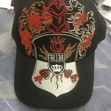 NWOT Royal underground fitted baseball cap hat black w/red,gold,white design