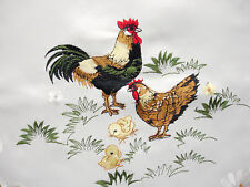 New Chicken Cockerel RoosterHen Chick Easter Embroidered Table Runner230cm M400L