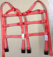 Car Basket Straps Tow Dolly Wheel Net Set Flat Hooks RED USA MADE Fits Stehl