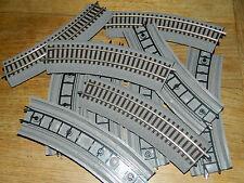 10x ROCO 42522 R2 RAIL de TRAIN track Line HO 1:87 Gleise Schienen ZUG gare VOIE