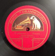 """RARE 78 RPM 10"""" BARITONO RENATO ZANELLI O PRIMAVERA / MARIANNINA GRAMMOFONO"""