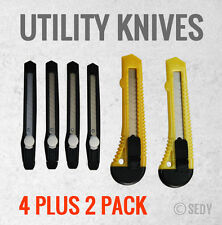 """6 PC 6"""" Utility Knife + 5"""" Utility Knife Set Snap-Off Lock Cutter Cutting Tool"""