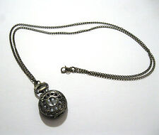 Deluxe Mini Pocket Watch Necklace Monocle Steampunk Gear Adult Costume Accessory