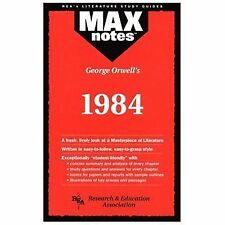 MAXnotes Literature Guides: 1984 by Karen Brodeur and George Orwell (1995,...
