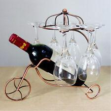 Red Wine Bottle Glasses Holder Hanging Upside Down Cup Goblets Display Rack HQ