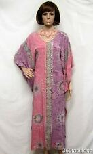 PLUS SIZE AZTEC TIE DYE KAFTAN MAXI DRESS LILAC MULTI 16 18 20 22 24 26 28 30 32