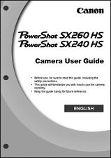 Canon Powershot SX240 HS SX260 HS Digital Camera User Instruction Guide  Manual